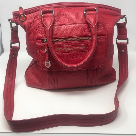 Marc By Marc Jacobs Handbags - Marc Jacobs Red Leather Crossbody Tote Bag